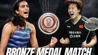 PV Sindhu vs He Bing Jiao MATCH HIGHLIGHTS Tokyo Olympics 2020 Badminton: Sindhu Beats Bingjiao in Straight Games to Win Historic Bronze Medal
