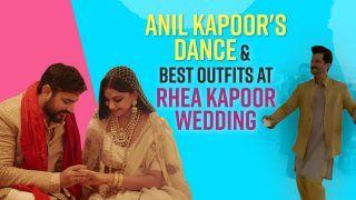 Janhvi Kapoor Nailed It In Blue Sequenced Crop Top And Pants, Sonam Kapoor, Arjun Kapoor And More : Rhea Kapoor Wedding Functions