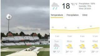 Trent Bridge, Nottingham Weather Forecast India vs England, Day 5: Rain Set to Interrupt Play