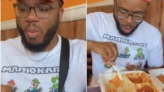 Nigerian Man Eats Indian Food For The First Time, His Reaction Goes Viral | Watch Video