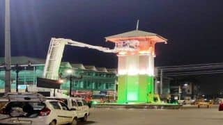 Watch: Clock Tower At Srinagar   s Lal Chowk Illuminated In Tricolour Ahead Of Independence Day