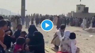 Video: Taliban Fire Gunshots Into Air at Kabul Airport to Disperse Crowd   WATCH