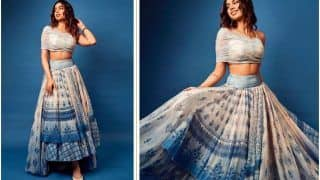 Khushi Kapoor is 'Blutiful' in Rs 95K Chic Blue Crop Top And Lehenga For Antara Marwah's Baby Shower