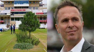 India vs England: पिच पर पेड़-पौधे लगाकर Michael Vaughan ने ली चुटकी, हरी घास वाली पिच पर भारत को हो सकती है मुश्किल
