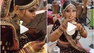 Viral Video: Foodie Bride Gorges on Dosa & Ice-Cream Before Wedding Ceremony | Watch
