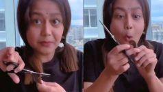 Neha Kakkar ने खुद के काट दिए बाल, एक पल में चला दी कैंची...फिर हुआ अफसोस- VIRAL VIDEO
