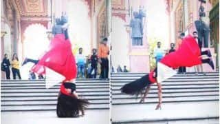 Viral Video: Girl Performs Impressive Backflips in a Red Saree & Stuns The Internet | Watch