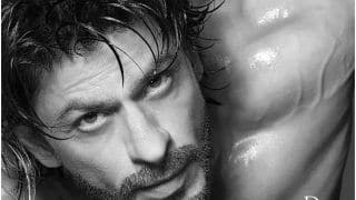 HOT! Shah Rukh Khan Flaunts His Chiselled Body in Shirtless Monochrome Photoshoot by Dabboo Ratnani