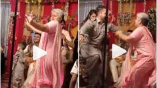 Viral Video: Groom's Mother Rocks The Stage With Her Energetic Dance, Leaves People Impressed | Watch