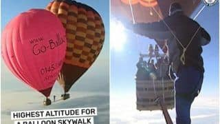 Man Walks Between 2 Hot Air Balloons At an Altitude of 6,522 Metres, Video Will Give You Goosebumps   Watch