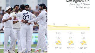 Trent Bridge, Nottingham Weather Forecast India vs England, Day 4: Will Rain Continue to Interrupt Play?