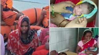 बाढ़ से घिरी गर्भवती महिला ने जन्मी बच्ची, नाम रखा 'गंगा', बोली- गंगा मईया का प्रसाद है