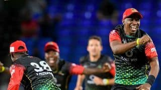 GAW vs SKNP Match Highlights CPL 2021 Updates: Lewis, Thomas Power St Kitts and Nevis Patriots To a Clinical 8-Wicket Win