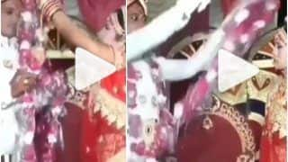 Viral Video: Bride & Groom Angrily Throw Garlands at Each Other During Wedding Ceremony   Watch