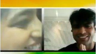 Viral: नीरज चोपड़ा को लाइव कैमरे पर झप्पी दी रही थी लड़की, तुरंत कर दिया नमस्ते   वायरल हो रहा Video