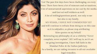 Raj Kundra Case: शिल्पा शेट्टी ने सोशल मीडिया पर जारी किया बयान, बोलीं- हम मीडिया ट्रायल डिजर्व नहीं करते, गलत आरोप लगाए...