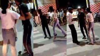 Video of a Girl Thrashing a Cab Driver in the Middle of a Road in Lucknow Goes Viral   WATCH