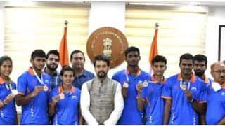 U-20 World Athletics Championships: Sports Minister Anurag Thakur Interacts With Athletes And Medallists