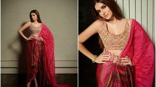 Tara Sutaria Radiates With Grace in Her Gorgeous Cherry Red Satin-Silk Saree Worth Rs 45,000
