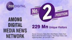 Comscore Ranking June 2021: 229 मिलियन यूनिक विजिटर्स के साथ दूसरे पायदान पर Zee Digital