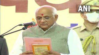 Bhupendra Patel sworn-in as New CM  of Gujarat: भूपेंद्र पटेल ने 17 वें मुख्यमंत्री के तौर पर शपथ ली