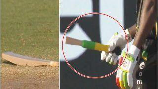 Video: Chris Gayle ने मारा जोरदार शॉट, बैट के हुए 2 टुकड़े, खिलाड़ी हैरान