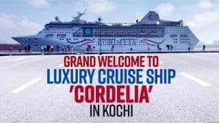 Luxury Cruise Ship Cordelia With Domestic Tourists Reaches Kochi | Exclusive Video