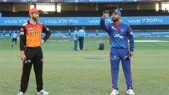 IPL 2021- DC vs SRH: हैदराबाद ने टॉस जीतकर किया बैटिंग का फैसला, दिल्ली की टीम में लौटे Shreyas Iyer
