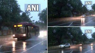 Delhi-NCR में गरज और हवाओं के साथ तेज बारिश जारी, इन राज्यों में भी वर्षा का अलर्ट