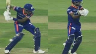 IPL 2021: Hardik Pandya Practices MS Dhoni-Style Helicopter Shot During MI Training Session | WATCH VIDEO
