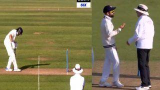 India vs England: VIDEO देखें- पिच खरोंचते दिखे Haseeb Hameed, अंपायर की अनदेखी पर भड़के Virat Kohli