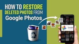 Accidently Deleted Your Pictures or Videos From Google Photos? Here's How You Can Restore Them Back, Watch Video