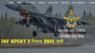 IAF AFCAT 2 Result 2021 Declared: जारी हुआ IAF AFCAT 2 2021 का रिजल्ट, इस Direct Link से करें डाउनलोड