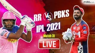 IPL 2021 MATCH HIGHLIGHTS PBKS vs RR Cricket Updates: Kartik Tyagi Stars in Rajasthan's Win; Punjab Choke After Mayank-Rahul's Century Stand