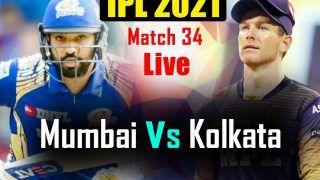 MI vs KKR MATCH HIGHLIGHTS, IPL 2021 Today Updates: Rahul Tripathi, Venkatesh Iyer Fifties Power Kolkata to 7-Wicket Win vs Mumbai