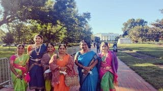 Indian-Americans Gather Outside White House To Welcome PM Modi Ahead Of Meeting With Biden   See Photos