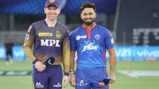 LIVE DC vs KKR Score And Updates: Morgan & Co Eye Win to Keep Playoff Hopes Alive
