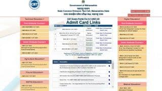 Maharashtra CET 2021 Admit Card 2021 for Various Exams Released at cetcell.mahacet.org, Here's the Direct Link to Download