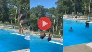 नहाने के लिए पूल में कूद गई महिला, पर उसके बाद जो हुआ रोक नहीं पाएंगे हंसी, Viral हुआ मजेदार Video