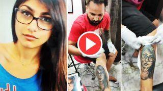 Mia Khalifa Ko Naraz Kar Dia: पैर पर बनवा लिया मिया खलीफा का टैटू, देखकर नाराज हुई पूर्व पोर्नस्टार |  Video हुआ ये Viral
