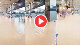 Delhi Ki Barish: भारी बारिश के बाद IGI एयरपोर्ट में भरा पानी, विमानों की पार्किंग भी जलमग्न | Viral हो रहे ये Video