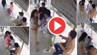 Manchalo Ko Sabak Sikha Diya: सादा ड्रेस में खड़ी पुलिस अधिकारी को छेड़ने लगे मनचले, बाद में जो हुआ उड़ गए होश   Viral हुआ ये फुटेज