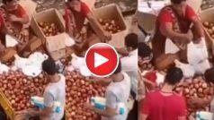 Aunty Ki Chalaki: फल बेच रही आंटी ने दिखाई गजब चालाकी, छांटकर ले रहे ग्राहक को ही थमा दिए खराब सेब | देखिए ये Video