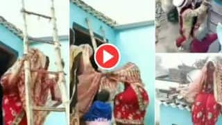 Bride Groom Video: दूल्हा आया तो छत पर जा बैठी दुल्हन, परिवार ने बहुत मनाया पर नीचे नहीं आई | Video हुआ Viral