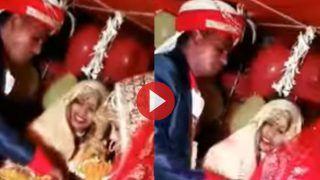 Bride Groom Video: खुशी में दुल्हन को मिठाई खिलाने लगा दूल्हा, पर उसके बाद जो हुआ हंसी नहीं रुकेगी | देखिए ये मजेदार Video