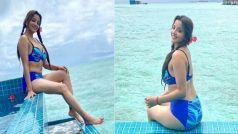 ब्लू कलर की बिकिनी में Monalisa ने दिखाया अपने हुस्न का जलवा, सिजलिंग तस्वीरें देखकर हो जाएंगे पानी-पानी