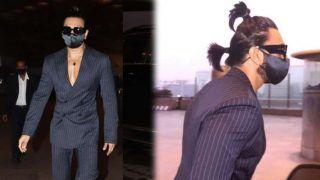 बिना शर्ट के कोट और 'दो चोटी' में नजर आए Ranveer Singh, लुक देखकर फैंस के उड़े होश- Video