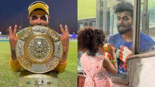 International Daughter Day पर जडेजा ने बेटी को समर्पित किया MoM, एक ओवर में 22 रन ठोककर दिलाई जीत