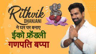 OMG! Rithvik Dhanjani Made Eco Friendly Ganpati Bappa At Home: Ganesh Chaturthi 2021 Special