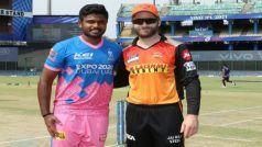 IPL 2021, SRH vs RR Live Score: राजस्थान रॉयल्स ने टॉस जीतकर पहले बल्लेबाजी का फैसला किया